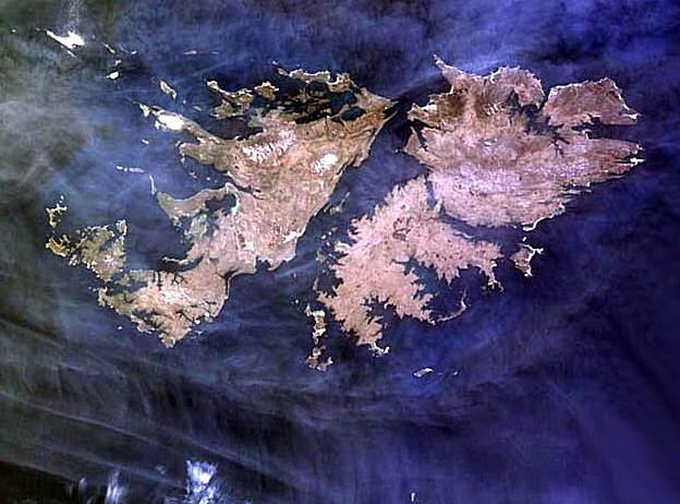 Fotos Malvinas Imagenes Satelitales De Los Archipielagos En Conflicto